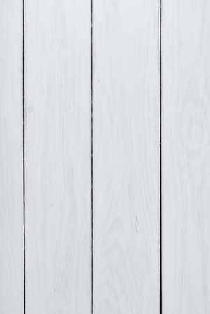 Empty white wooden table background Stock Photo