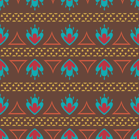 native american baby: Retro ethnic oriental seamless pattern background Illustration
