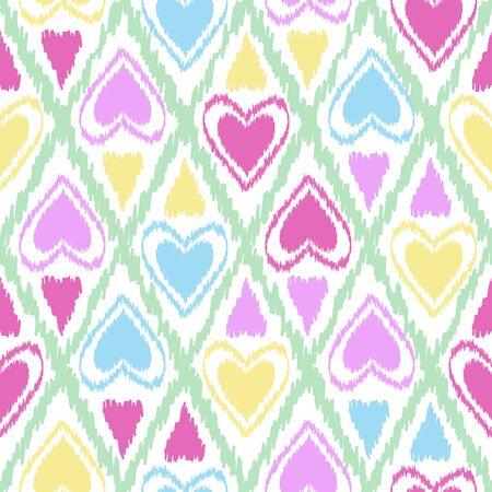 Seamless scribble bright kids pastel ornament pattern design background Illustration