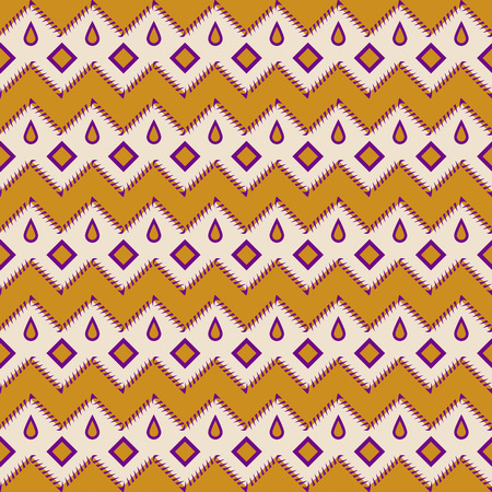 native american baby: Seamless colorful aztec pattern zigzag geometrical background
