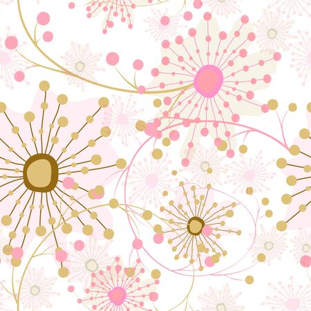 unusual: Abstract seamless kids floral unusual pattern background