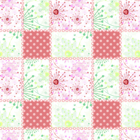 patchwork: Patchwork seamless pattern ornament dotted design background