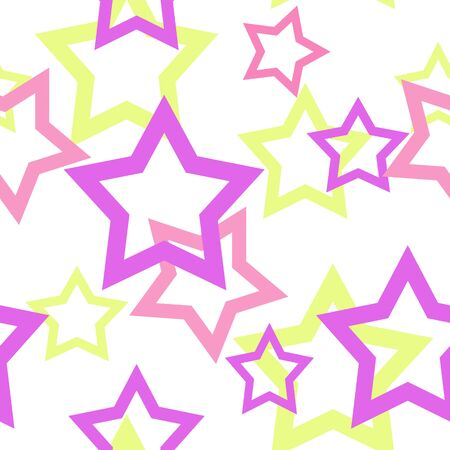 flax: Seamless white pattern with stars background