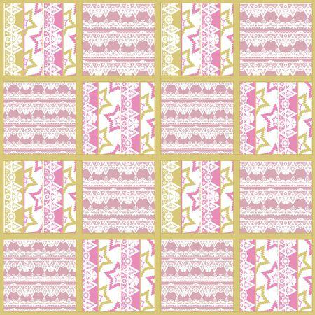 patchwork: Patchwork seamless pattern ornament geometrical design background