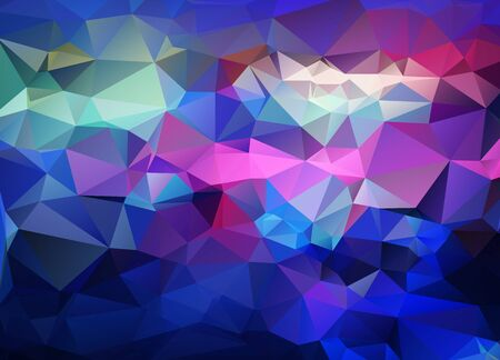 low scale: Abstract vector background of triangles polygon wallpaper. Web design in bright colors