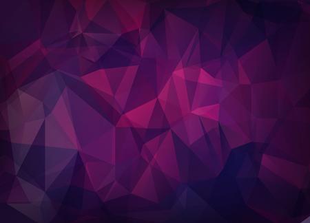 Abstracte vector achtergrond van driehoeken veelhoek behang. Webdesign in heldere roze paarse kleuren Vector Illustratie