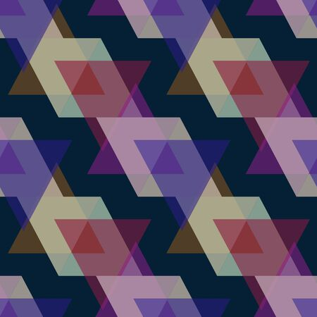 trendy tissue: Seamless triangle bright pattern background geometric abstract texture