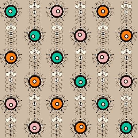 ornamental elements: Seamless pattern with retro ornamental elements texture background