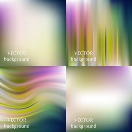 smooth: Abstract colorful blurred smooth vector backgrounds set
