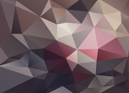 low scale: Abstract vector background of triangles polygon wallpaper. Web design in brown red colors