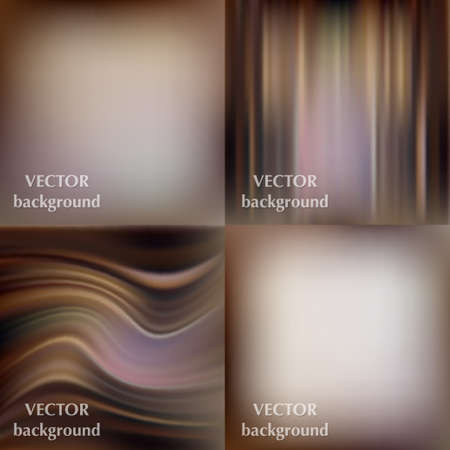 softy: Abstract beautiful colorful blurred wavy smooth vector backgrounds set EPS10 Illustration