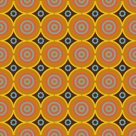 ethno: African ethno abstract seamless tribal pattern with decorative folk elements background