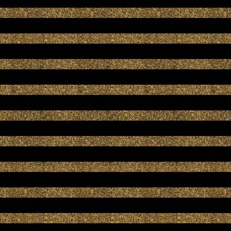 gold textured background: Pattern with gold glitter textured lines print on black background.