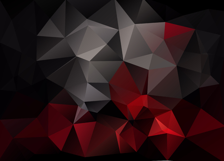 low scale: Abstract vector background of triangles polygon wallpaper. Web design, template in red black colors Illustration