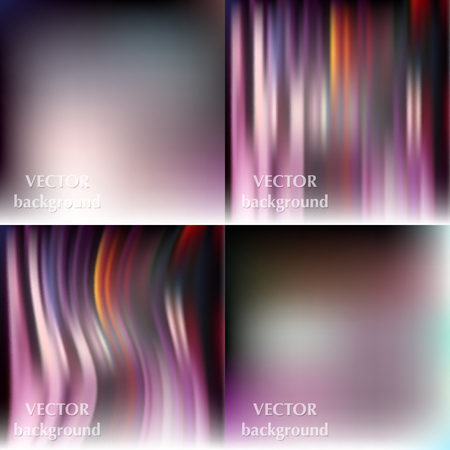 softy: Abstract beautiful colorful blurred wavy smooth vector backgrounds set Illustration