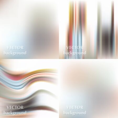 softy: Abstract beautiful colorful blurred wavy smooth vector spring backgrounds set