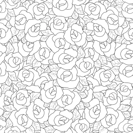 Ausmalbilder Buch Mit Dekorativen Ornamentalen Blumen Rosen Elemente