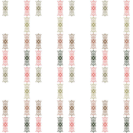 ornamental elements: Seamless pattern with decorative ornamental elements background Stock Photo