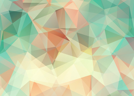 low scale: Abstract vector background of triangles polygon wallpaper. Web design in pastel colors