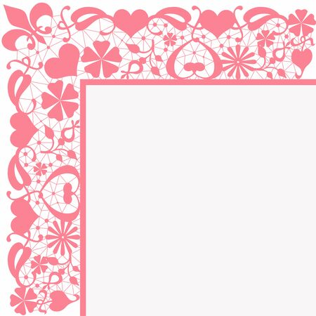 pink floral: Seamless pink floral pattern on white background Stock Photo