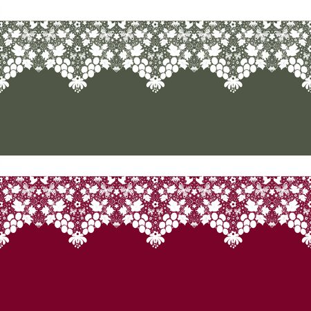 tights: Seamless lace pattern texture on green and red background Stock Photo