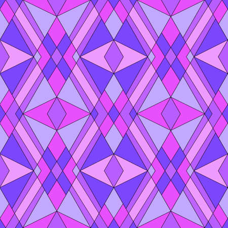 vitrage: Seamless abstract vitrage pattern retro purple colors background Stock Photo