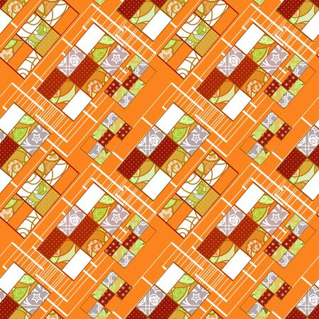 elegance: Abstract elegance seamless patchwork pattern texture background Stock Photo