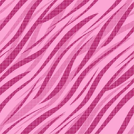 instinct: Seamless zebra skin pink pattern background Stock Photo