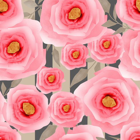 elegance: Abstract elegance seamless pattern with pink flowers background