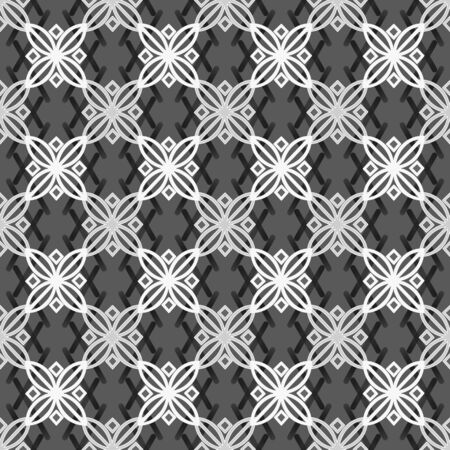 cary: Seamless abstract ornamental pattern in white grey colors Stock Photo