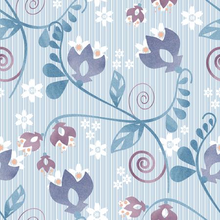 archetype: Seamless ornamental pattern decoration elements texture blue background