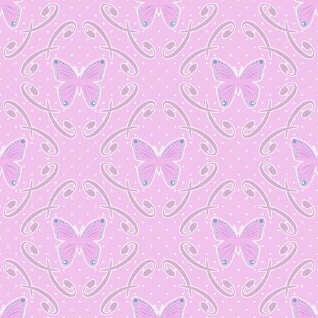 butterfly background: Butterfly background dotted seamless pattern
