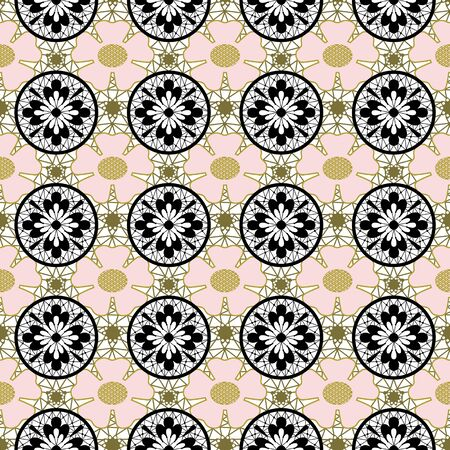 lacy: Seamless lacy lace pattern on white background