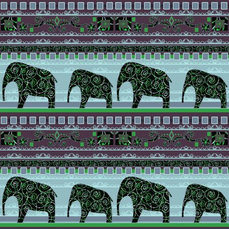 indian traditional: Patchwork seamless african pattern background