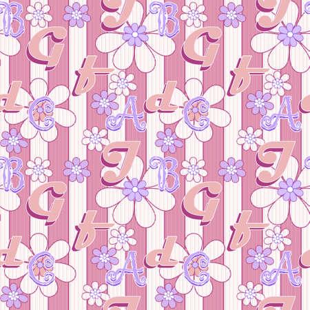 seamless: Letters illustration seamless pattern
