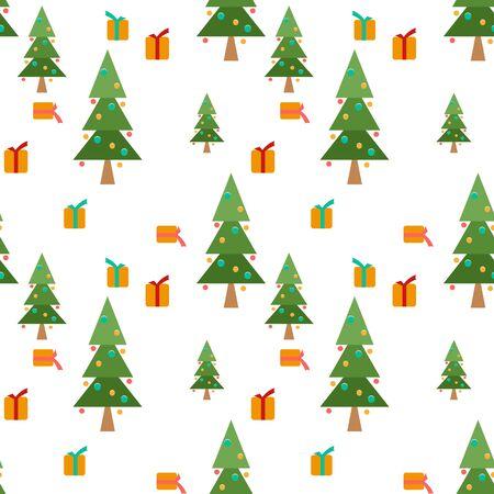 homespun: Christmas seamless winter pattern texture white background