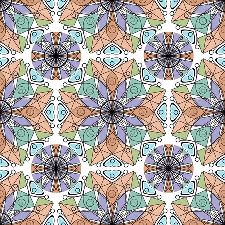 vitrage: Seamless beautiful antique art deco vitrage pattern ornament. Geometric background design, repeating texture.