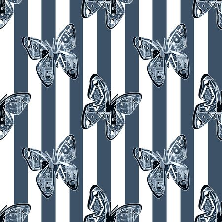 butterfly background: Seamless pattern background with butterfly