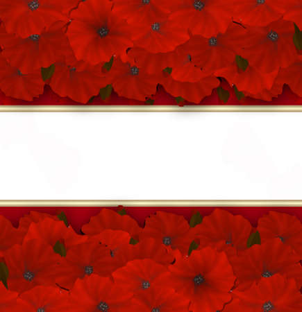 azalea: Flower frame. Floral border or card. Bouquet of red azalea background with space for text