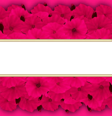 azalea: Flower frame. Floral border. Bouquet of pink azalea background with space for text