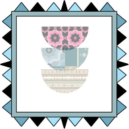 quilt: Background retro scandinavian pattern patchwork quilt design Stock Photo