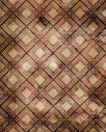 oldish: Checkered plaid grunge ornamental pattern brown background
