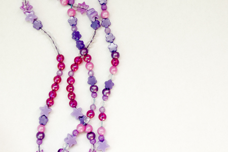 colorful beads: Colorful beads background on white isolated