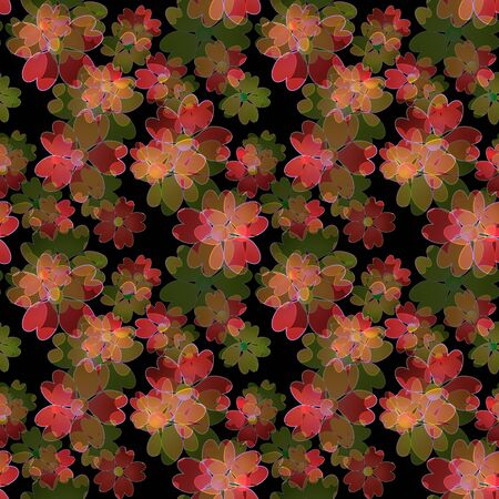 Seamless floral pattern background, flowers ornament wallpaper textile Illustration Stock fotó