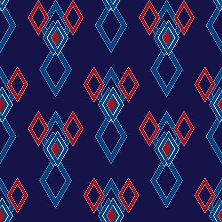 repeats: Geometrical rhombus elements seamless pattern dark background