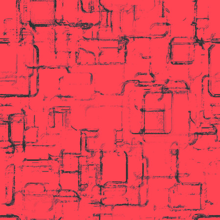 oldish: Abstract seamless red grunge pattern, vintage oldish print background