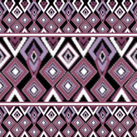 ethno: Ethno abstract seamless tribal pattern with decorative folk elements background