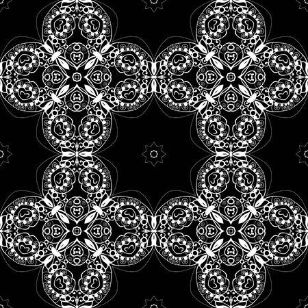 lacework: Lace seamless pattern, monochrom colors elegant print background
