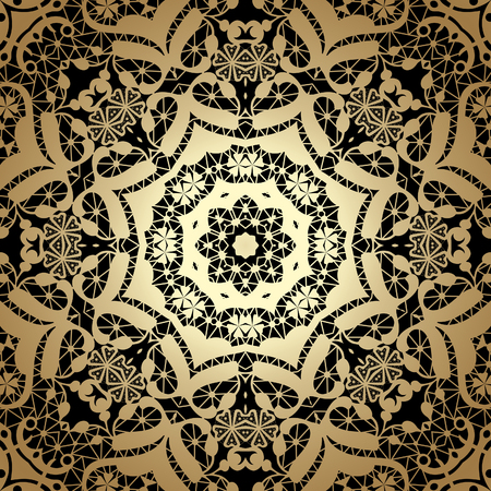 fabric textures: Vintage seamless background with lacy ornament. Golden pattern, wallpaper, web background, surface textures, classic fabric