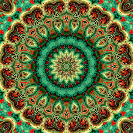 vitrage: Glass vitrage mosaic kaleidoscopic seamless pattern background